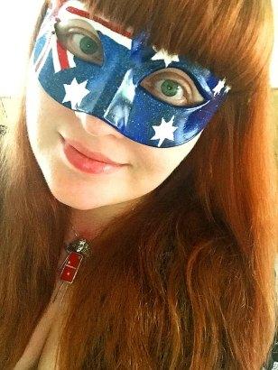 Lezli Robyn Aussie Flag Mask