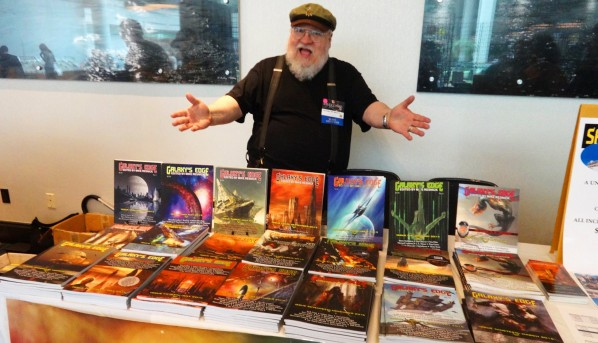 George R.R. Martin at Galaxy's Edge Magazine Table
