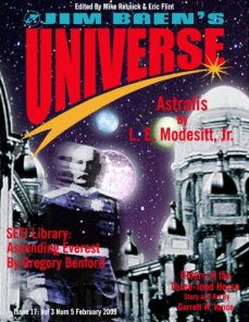 """Johnny So Long At The Fair"" by Lezli Robyn, appeared in JIM BAEN'S UNIVERSE. Edited by Mike Resnick and Eric Flint. (United States, February 2009)"