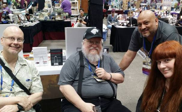 Robert J. Sawyer, George R.R. Martin, Shahid Mahmud & Lezli Robyn—Worldcon (Kansas City, Missouri)