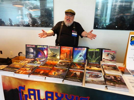George R.R. Martin at Galaxy's Edge Table—Balticon (Baltimore, Maryland)